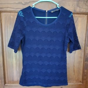 💥 Outback Red Navy Lace Top Sz M